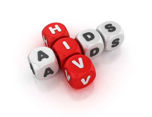 HIV Aids Concept Crossword - 3D Rendering