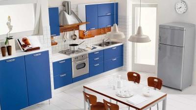 Inspirasi Desain Ruang Dapur Warna Warni Blue Kitchen