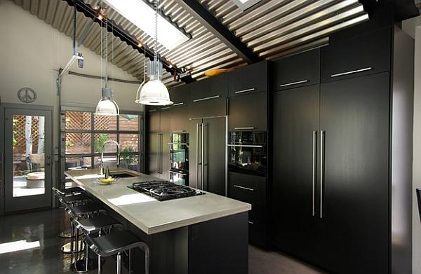 Kabinet Dapur Hitam Modern