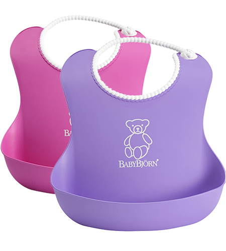 soft-bib-pink-purple Baby Bjorn