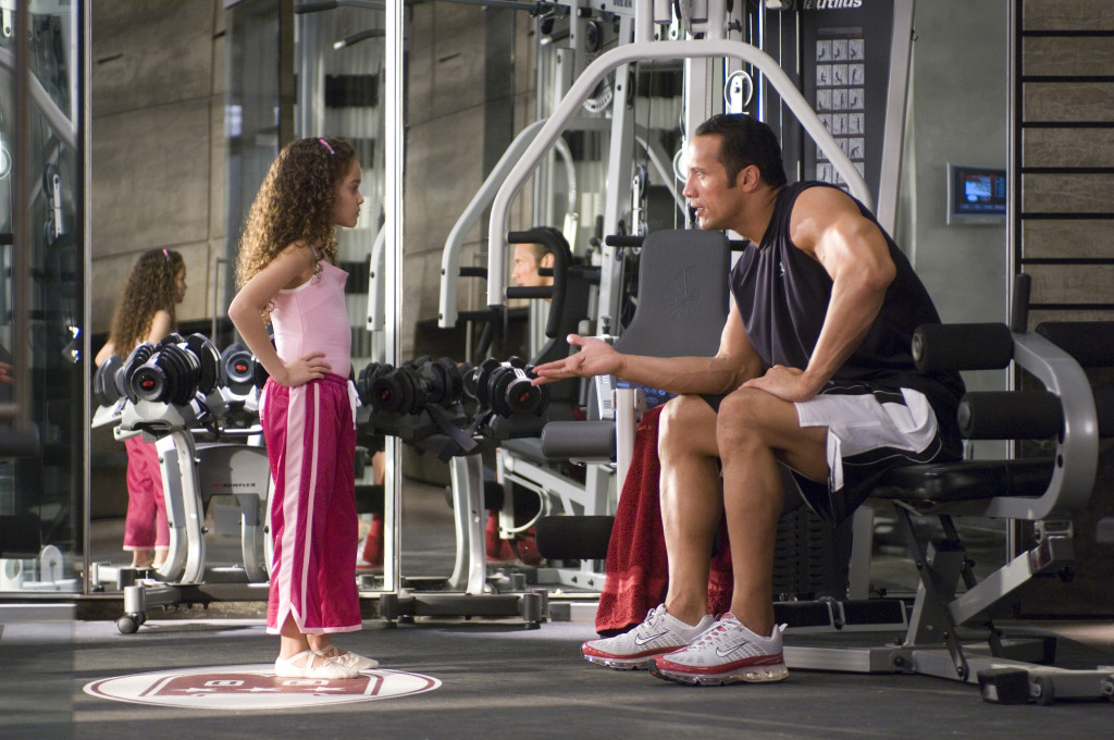 """The Game Plan"" (L-R) Madison Pettis, Dwayne ""The Rock"" Johnson Ph: Ron Phillips ©Disney Enterprises, Inc. All rights reserved."